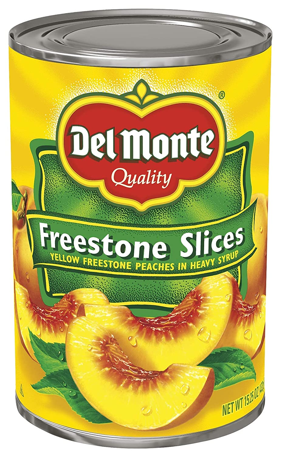 Del Monte Canned Max 63% OFF Sliced Peaches in Syrup Pac Japan Maker New Ounce 15.25 Heavy