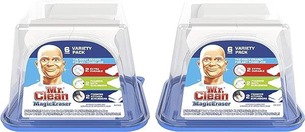 魔法橡皮擦由 Mr Clean Variety 包装清洁垫带 Durafoam 6 支装 2
