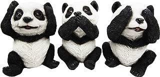 Wise See Hear Speak No Evil Giant China Pandas Set of 3 Decorative Figurines 5.75