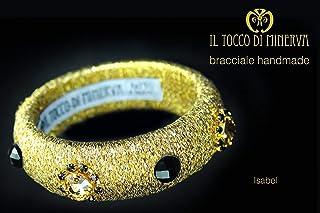 Bracciale di Lamè cristalli Swarovski e pietre Isabel fatto a mano Made in Italy - Handmade - Regali donna - idee regali o...