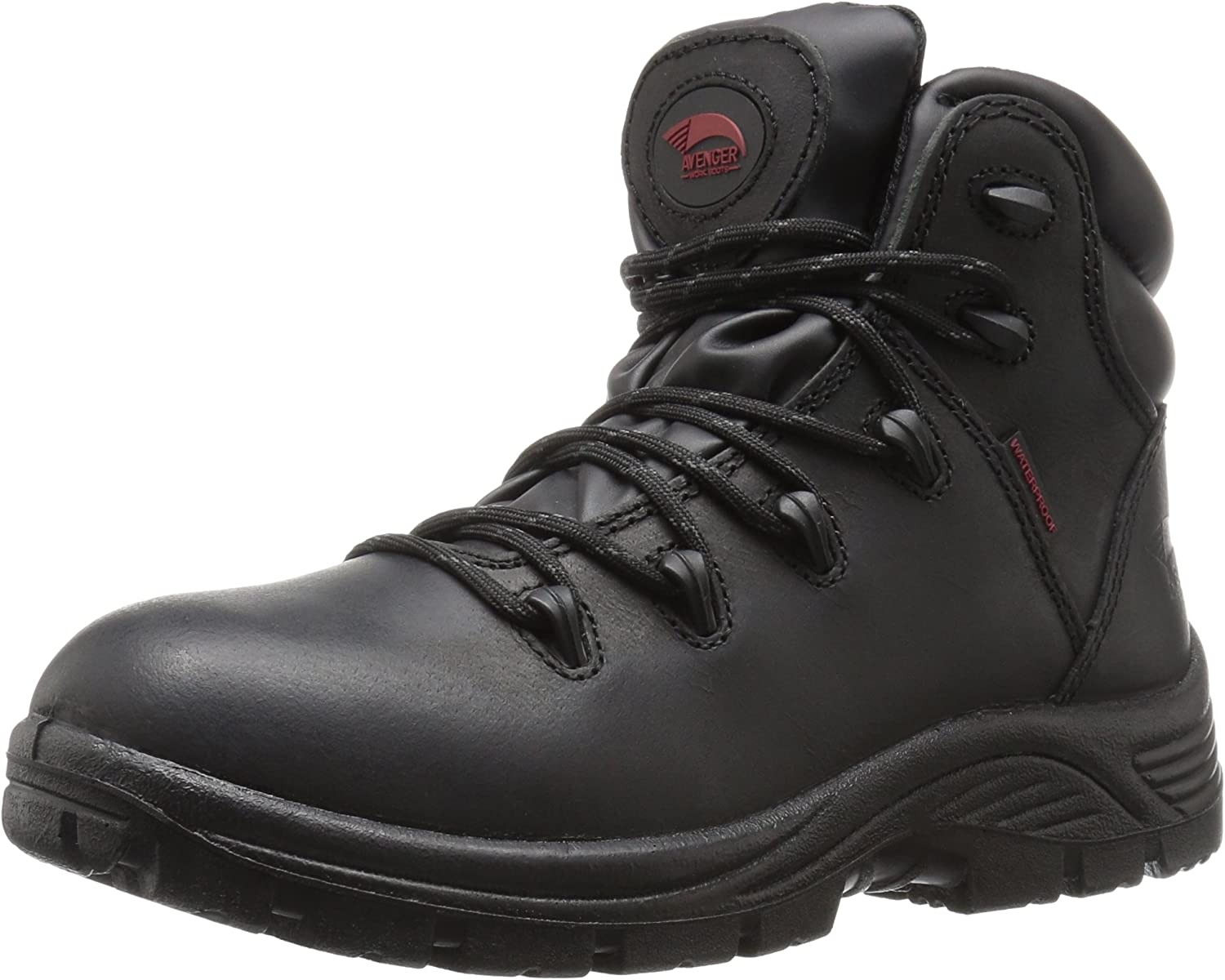 Avenger Safety Footwear Mens Avenger 7623 Mens Leather Waterproof Soft Toe Eh Work Boot Industrial & Construction shoes