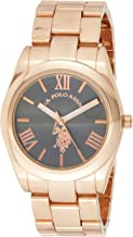 U.S. Polo Assn. Women's Analog-Quartz Watch with Alloy Strap, Gold, 20 (Model: USC40130)