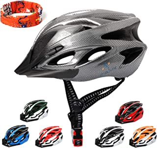 ioutdoor Adult Bike Helmets Collocated with a Headband,CE Certified Cycle Helmets for Men Women Youth,Adjustable Lightweight Helmets for BMX Skateboard MTB Mountain Road Bike