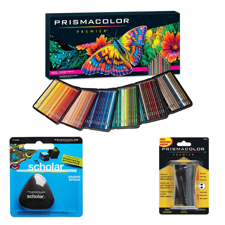 Prismacolor - Caja de 150 lápices de colores, con goma triangular y sacapuntas: Amazon.es: Oficina y papelería
