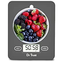 Dr Trust (USA) Electronic Kitchen Digital Scale Weighing Machine – 517 (Gray)