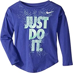 Nike Kids - Hard Stop Just Do It Modern Long Sleeve Tee (Little Kids)
