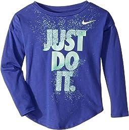 Nike Kids - Hard Stop Just Do It Modern Long Sleeve Tee (Little Kids)