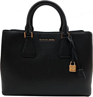 2abbf932aaff Michael Kors Camille Bag Large Satchel Leather Black (35S8GCAS3L)