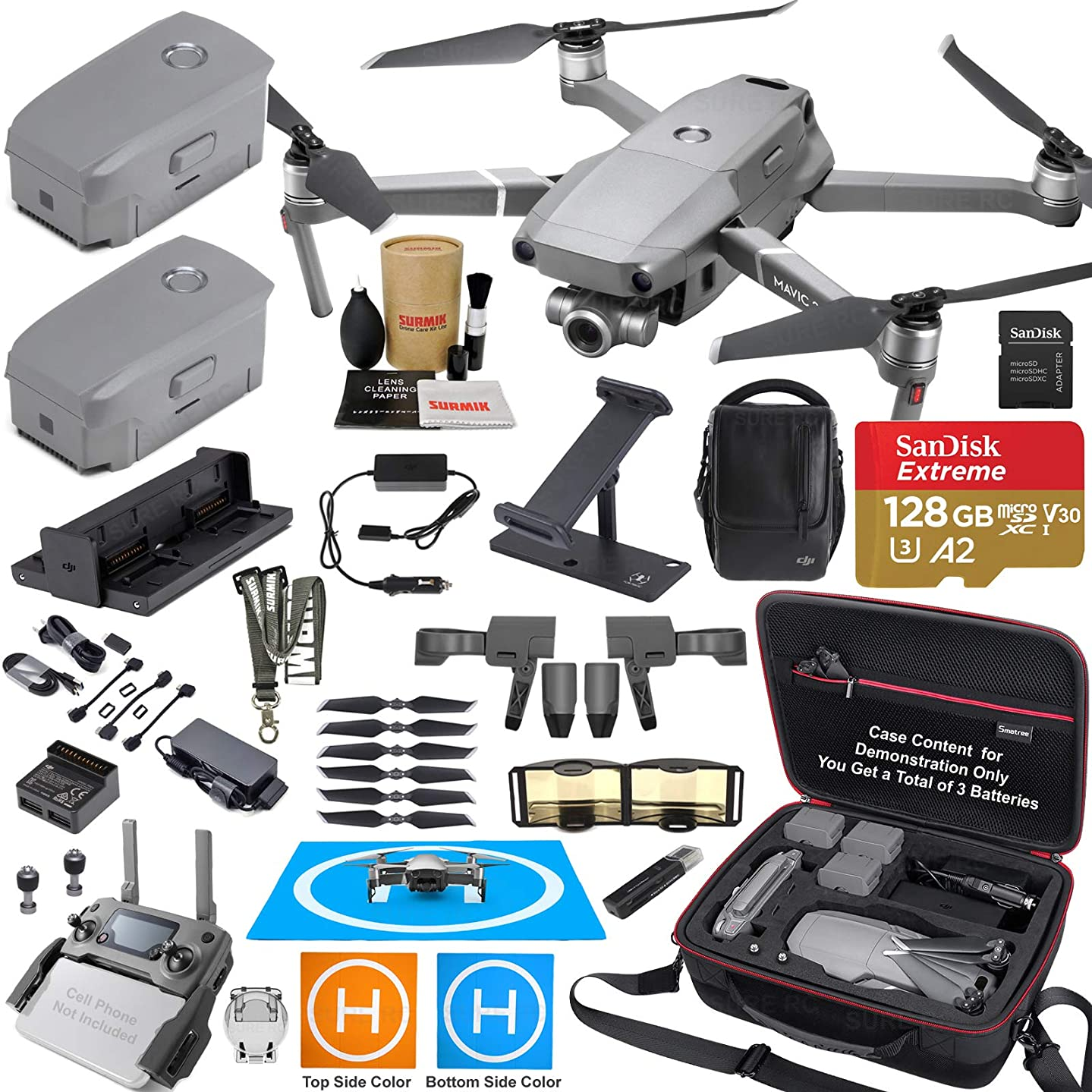 DJI Mavic 2 Zoom Drone Quadcopter and Fly More Kit Combo Elite Bundle Comes with 3 Batteries, Professional Camera Gimbal, Professional Carrying Case and Must Have Accessories
