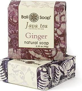 Bali Soap - Natural Soap Bar Gift Set, Face or Body Soap Best for All Skin Types, For Women, Men & Teens, Java Tea Ginger & Lemongrass 2 pc Soap Set, 3.3 Oz each