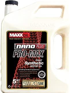 Maxx Oil NPM-5W20-5Q NanoPlus Synthetic Motor Oil 5w20-5 Quart, 160. Fluid_Ounces
