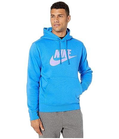 Nike NSW Club Hoodie Pullover Graphics (Light Photo Blue/Medium Violet) Men