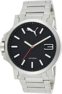 Puma Unisex-Adult Quartz Watch, Analog Display and Stainless Steel Strap PU103461003