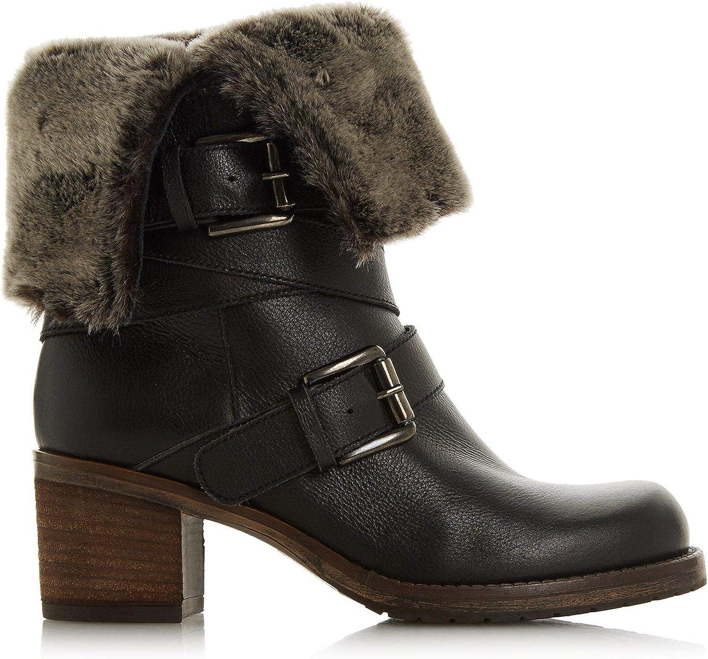 ROKO Faux Fur Trim Calf Boots Size UK