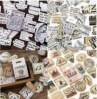 46pcs / Boîte Vintage Autocollants Voyage Kraft Décoratif Adhésif Étiquette D'étanchéité Stickers Scrapbooking Vintage Aut...