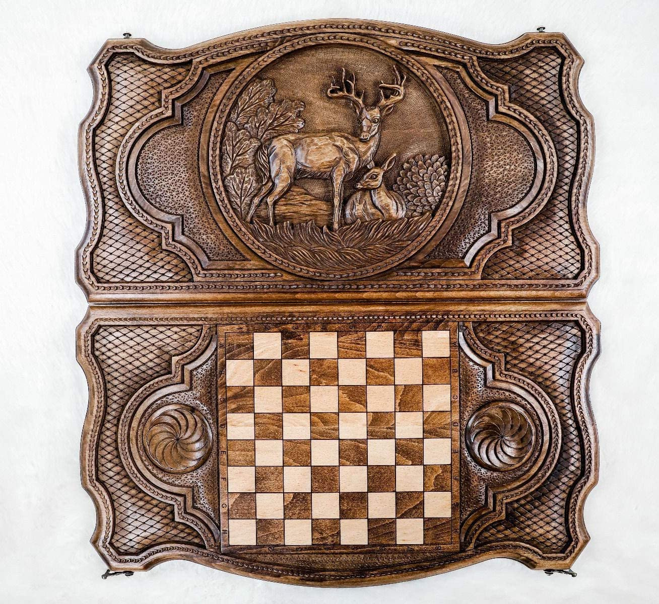 Nardy READY TO SHIP Armenian Handmade Backgammon Peter the Great Gift for him Set Board Game Hand carved from Natural Walnut Wood