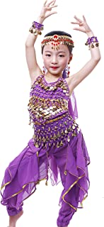 Girls Arabian Princess Halloween Costume Genie Performance Belly Dance Sets
