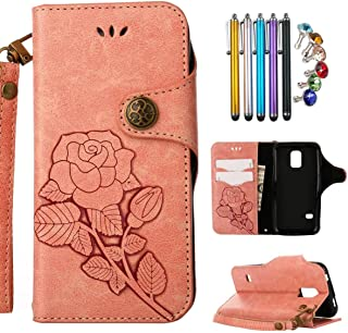 7ab9f7751ca LEMORRY para Samsung Galaxy S5 Mini / G800F Funda Tapa Cuero Piel Billetera  Cartera para Tarjetas