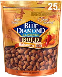 Blue Diamond Almonds Bold Habanero BBQ Almonds, 25 Ounce