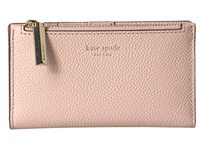 Kate Spade New York Margaux Small Slim Bifold Wallet (Pale Vellum) Bi-fold Wallet