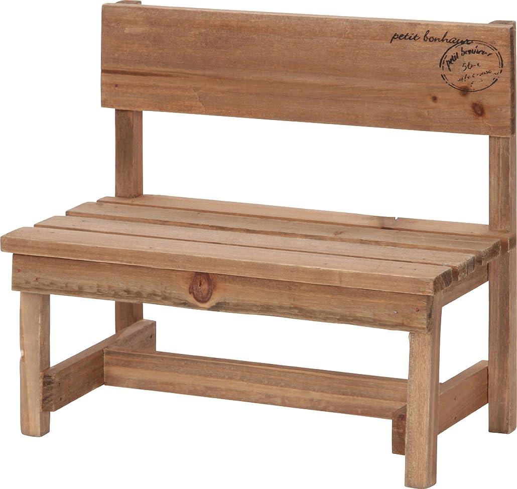 うがい魅惑的な専門不二貿易 ミニベンチ 幅24.5cm ブラウン 木製 46016