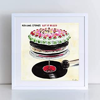 The Rolling Stones Let It Bleed Album Art Print of Watercolor Painting