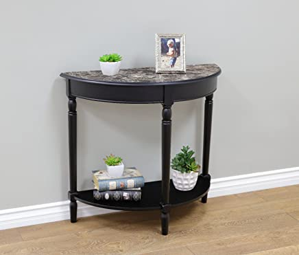 featured product Frenchi Home Furnishing Entryway Table with Faux Marble Top,  Black