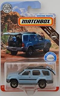 Light Blue 2000 Nissan Xterra 2018 Matchbox Moving Parts Off-Road Series 1:64 Scale Collectible Die Cast Metal Toy Car Model with Opening Hatchback