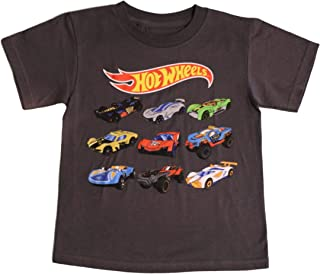 Hot Wheels Little Boys' Car Grid Tee