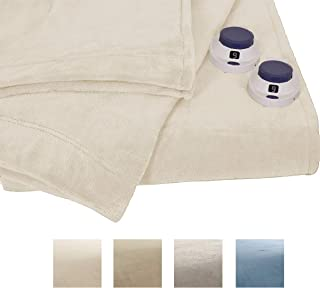 Serta | Luxe Plush Fleece Heated Electric Blanket with Safe & Warm Low-Voltage Technology King Cloud