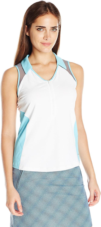 Cutter & Buck Womens Cb Drytec S L Isla Zip Polo Shirt