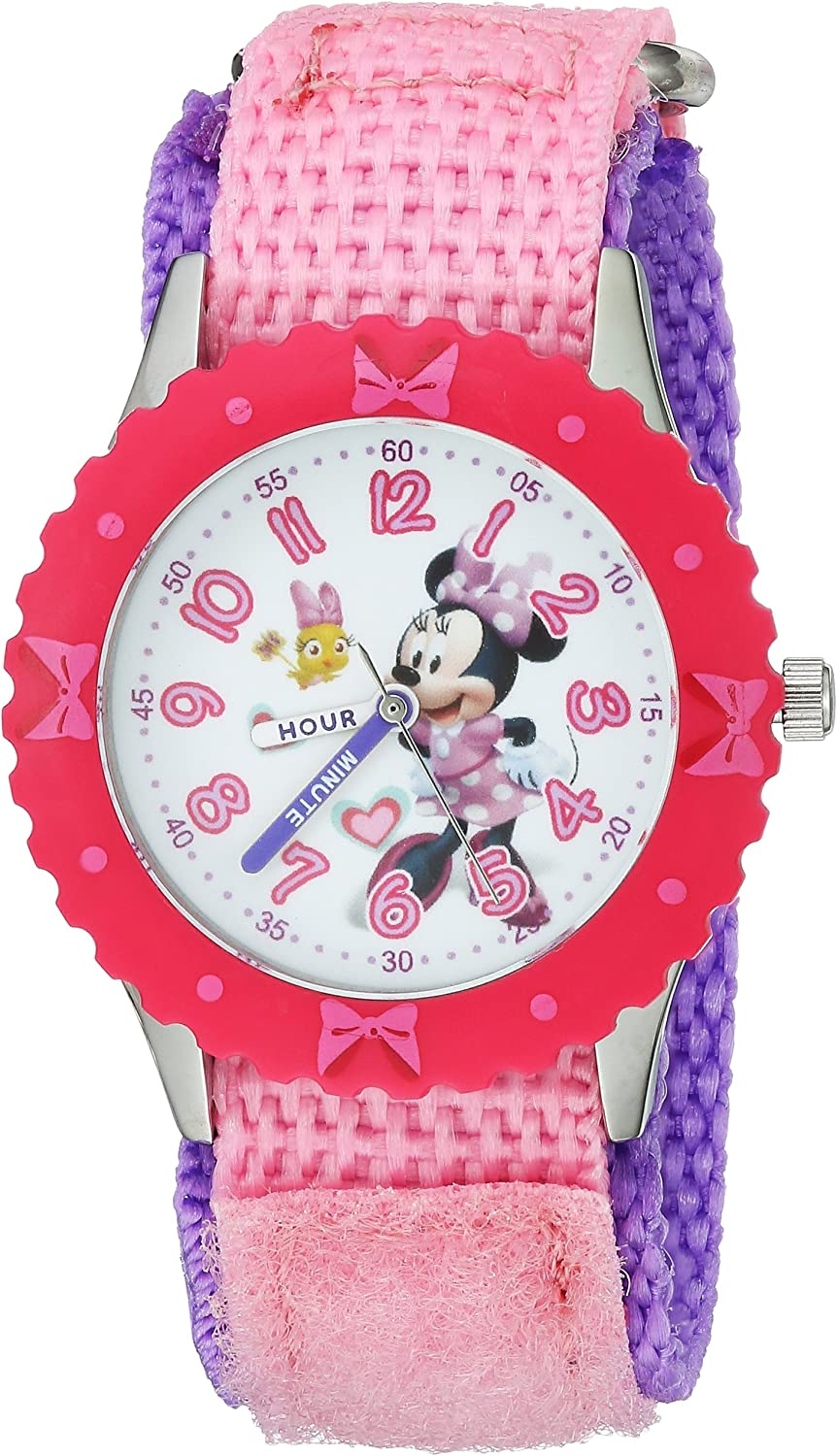 DISNEY Girls Minnie Mouse Industry Direct store No. 1 Stainless Watch Analog-Quartz Steel wi