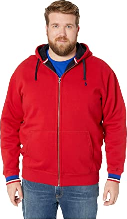 Big & Tall Classic Athletic Sherpa Lined Fleece Full Zip