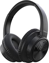 TREBLAB E3 - Active Noise Cancelling Headphones, Bluetooth 5.0   50H Battery Life w/Type-C   Over Ear Bluetooth Headphones with Microphone for Work, Travel, Sport (Black)