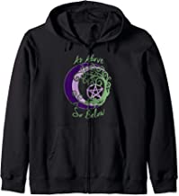 Wiccan Pagan Witch Tree of Life, As Above, So Below Art Zip Hoodie