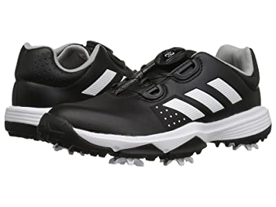 adidas Golf Jr. Adipower Boa (Little Kid/Big Kid) (Core Black/Footwear White/Grey Two) Golf Shoes
