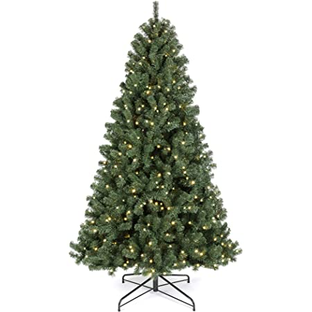 Amazon Com Best Choice Products 7 5ft Premium Spruce Artificial Holiday Christmas Tree For Home Office Party Decoration W 1 346 Branch Tips Easy Assembly Metal Hinges Foldable Base Home Kitchen