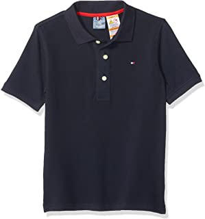 TOMMY HILFIGER Boys 7185379 Adaptive Polo Shirt with Magnetic Buttons Short Sleeve Polo Shirt