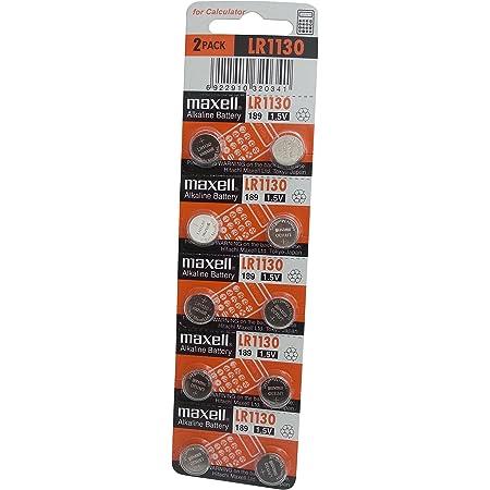 日立マクセル アルカリボタン電池 LR1130 10個パック 海外仕様逆輸入品 189/D189A/RW89/V10GA/L1131/GP189/LR54/AG10/G10A互換 [並行輸入品]