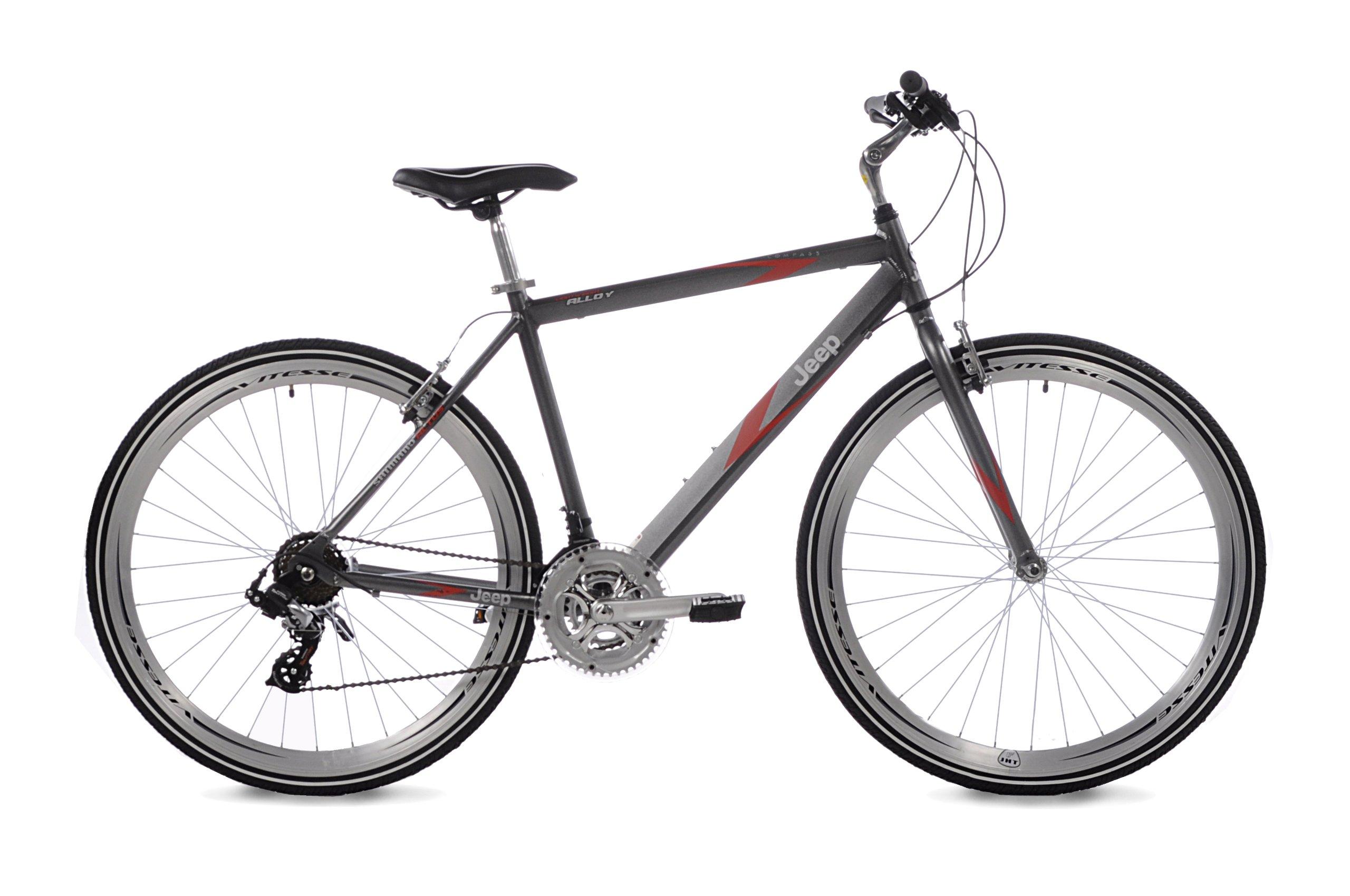White bicycle road lightweight aluminum frame 21 speed drivetrain Men/'s Bike