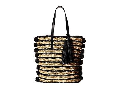 Loeffler Randall Raffia Cruise Tote (Natural/Black) Tote Handbags