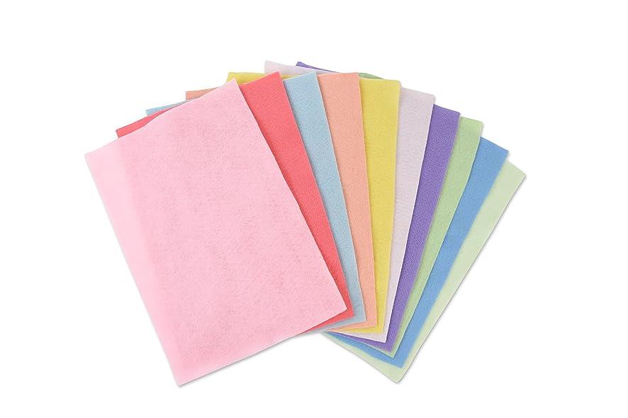 Sizzix Making Essential 10PK (10 Colours Pastels) Felt Sheets, One Size, Multicolor,