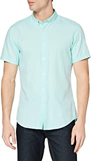 Marca Amazon - find. Camisa Oxford de Manga Corta Hombre