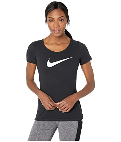 Nike Dry Tee Scoop Swoosh Cross-Dye (Black/Black/Heather) Women