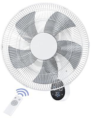 RaySonics Wall Mount Fan, 5 Speeds Fan w/ Remote Control