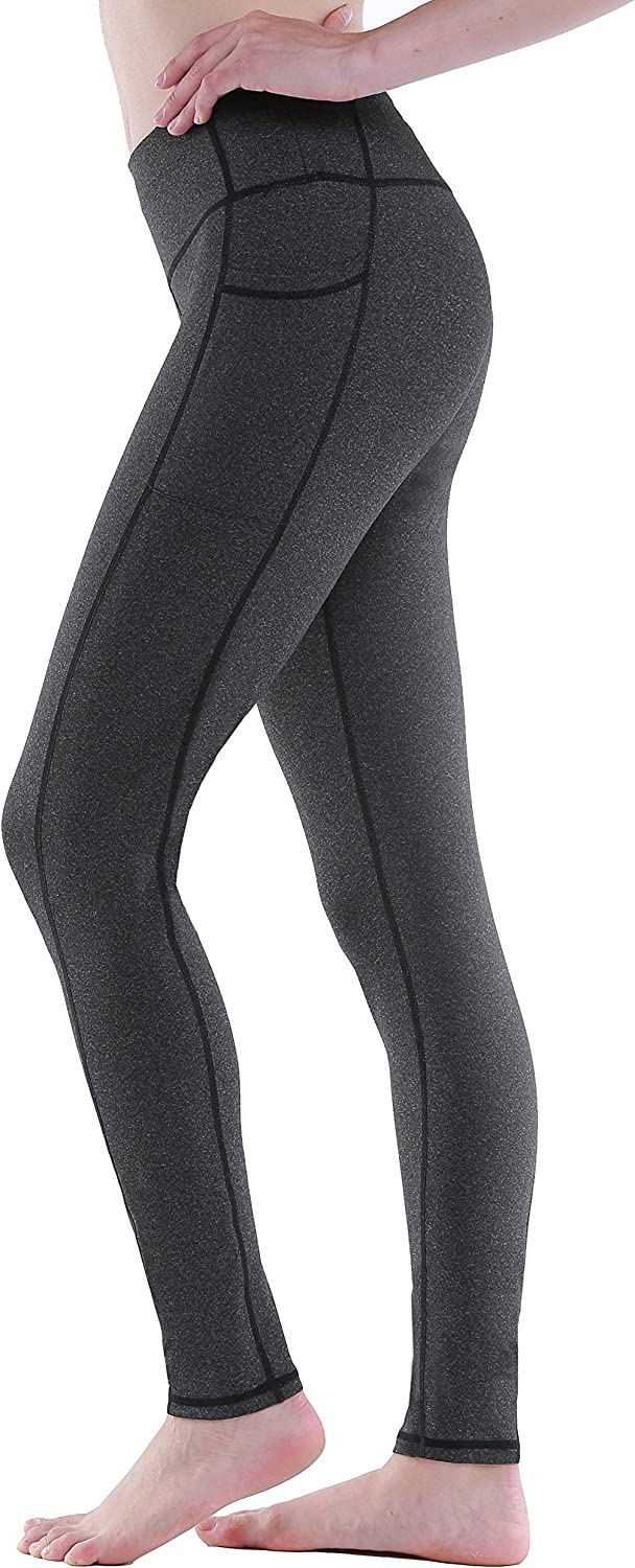 Sudawave Women's Workout Leggings with Pocket Running Tights Yoga Pants