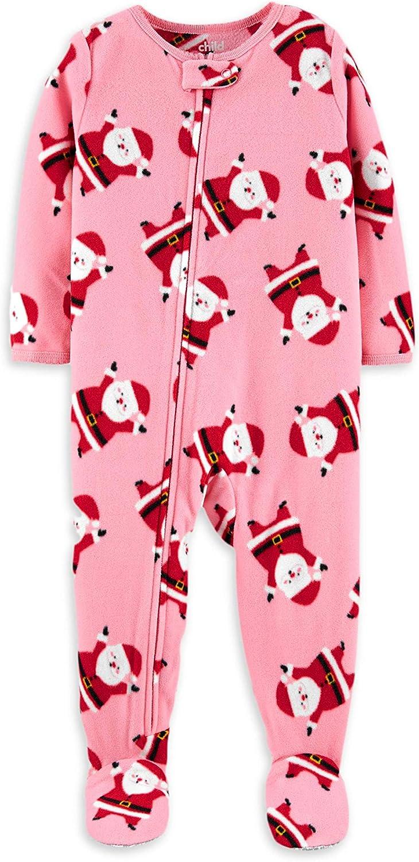 Carter's Little Girls' Toddler Santa Blanket Sleeper Pajamas