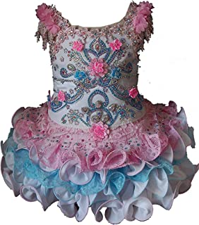 Toddler Girls Pageant Party Cupcake Dress Baby Short Gowns