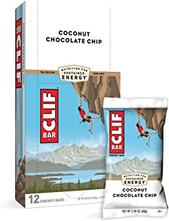 CLIF BARS - Energy Bars - Coconut Chocolate Chip - Made with Organic Oats - Plant Based Food - Vegetarian - Kosher (2.4 Ou...
