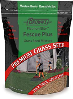 F.M. Brown's PlatinumElite Fescue Plus Grass Seed Mixture, 10 lbs. | 99.9% Weed Free, Fast-Growing Perennial Seeds for Beautiful Lawns